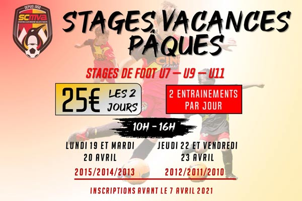 Les Stages «Pâques 2021»